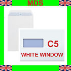 A5 Window Envelopes Self Seal 90gsm C5 White Free P&P *NEXT DAY DELIVERY*