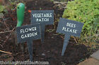 East of India * Bees Please*Vegetable Patch* Flower Garden* wooden plant sign