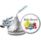 108 Baby Shower Sesame Street Party Hershey Kisses Candy Labels Favors Stickers