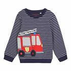 Bluezoo Kids Boys' Navy Striped Print Firetruck Applique Jumper From Debenhams