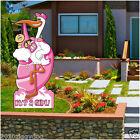 Stork Sign for new Baby  - Stork yard card -Welcome Home New Baby - Pink or Blue