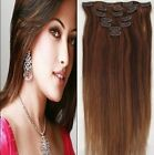"long straight 28"" 70CM Clip in on hair Extension 100% Human Hair many colors"