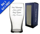 Personalised Engraved Pint Glass Fathers Day Birthday Best Man Usher Stag Party