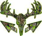 Lime Camo Deer Skull S4 Arrows Vinyl Sticker Decal hunting buck bow whitetail
