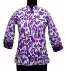 Indian Floral Print Jacket cotton quilted Reversible Jacket Women's Coat Blazer