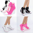 Wedges Trainers Heels Sneakers Platform High Top Ankles Boots Shoes 775 band