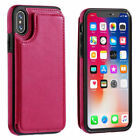 Luxury Leather Card Holder Wallet Slim Back Case Cover For iPhone 7 6 6S Plus