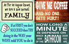 Wooden Funny Message Hanging  Sign Plaque