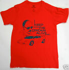 "Paul Frank T-Shirt  Red "" Keep The Dream Alive ""  100% Cotton"