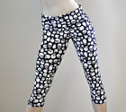 Skull Pants Black White Fold Over/High Waist Capri Yoga Gym SXYfitness USA