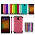 2 Layer Hybrid Heavy Duty Rubber Shockproof Case For Samsung Galaxy Note 3 N9000