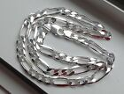 9MM 925 STERLING SILVER MEN'S/WOMEN'S FIGARO LINK CHAIN NECKLACE 16-36""