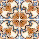 Mexican bath decor SET OF 24 Tile Decals Stickers for Ceramic Kitchens H7