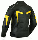 Mens RIDEX Biker Motorbike Motorcycle LJ2-Y Leather Jacket with CE Armours