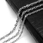 Fashion Twill Double 316L Titanium Steel Necklace Men Jewelry Choker Necklaces