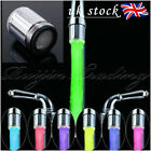 UK 7 Color Glow Shower Waterfall Led Light Water Faucet Temperature Sensor Tap
