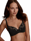 EX MARKS & SPENCER COTTON RICH FIRM SUPPORT SHEER LACE TOP BLACK SUPIMA BRA £16
