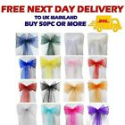 1 50 100 Organza Sashes Chair Cover Decor FULLER Bow Anniversary Wider Party UK