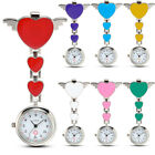 Nurse Clip-on Fob Brooch Pendant Hanging Fobwatch Cute Heart Pocket Watch