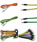 3.5mm Jack To Jack Mini STEREO AUX Cable Audio Auxiliary Lead PC Car Braided
