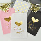 24 Wedding Gold Foil Pink White Black Candy Buffet Party Favor Cake Bags Q21315