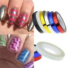 1Pc Colorful Chevron Striping Tape Nail Art Manicure Stencil Stickers Lines