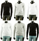 Basic Mens longsleeve cotton T-Shirt Tee 3 Colour.(Sz) XS / S / M / L / XL
