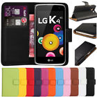 Premium Leather Flip Book Case Wallet Cover For LG K4 2016 + Free Screen Guard