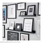 IKEA picture ledge floating shelf spice rack wall photo 75cm black