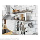 IKEA shelf rail hook 80cm kitchen organizer set stainless steel holder Grundtal