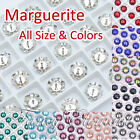 (Small Qty) 6mm-14mm Marguerite Flower Glass 3700 All Size Colors Crystal Sew On