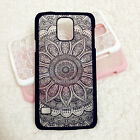 For Samsung Galaxy S5 S6 S7 New Rubberized Henna Paisley Mandala Hard Case Cover