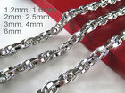 """16""""-36"""" Mens Womens Stainless Steel Diamond Cut Rope Chains Gene Chains Necklace image"""