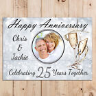 Personalised Silver 25th Wedding Anniversary PHOTO Poster Party Banner N68