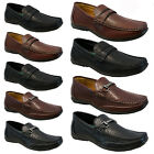 MENS LEATHER LOOK DESIGNER ITALIAN LOAFERS CASUAL MOCCASIN BOAT DRIVING SHOES