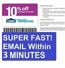 2x (Two) Lowe's 10% Off Printable-Coupons - Exp 12 15 2016 - Fast Email Delivery