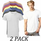 2-PACK-Russell tshirts Tops-Mens Heavy Duty T-Shirt-Crew Neck Short Sleeve 65/35