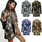 Ladies Womens Festival Camouflage Hooded Mac Outdoor Fishtail Parka Jacket Coat