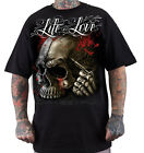 "DYSE ONE Clothing Kalifornien "" LOST SKULL "" T-Shirt Tee black / schwarz"