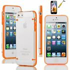 For iPhone 5 / 5S /  Ultra Thin Transparent Crystal Clear Hard TPU Case Cover