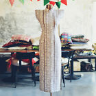 Chinese Dress Vintage Medium Long Cheongsam Linen Qipao BaiHuaLin