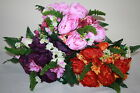Artificial Silk Peony Rose Bud  Gerbera & Leather Fern Bushes