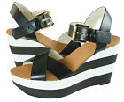 Michael Kors Womens Gage Wedge Open Toe Buckle Fashion Ankle Strap Sandals