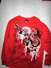 Top Heavy-Boys Red Long Sleeve T Shirt, Black/Gray/White Guitar Graphic-New
