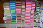 Heat Sealed Striped Across Ribbon 3Widths 2metre length 6 Colours MultiList HS4D