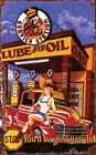 LUBE & OIL ~ SERVICE STN.  ~ Handcrafted Custom Wood Sign w/ Your Name ~ by PLD