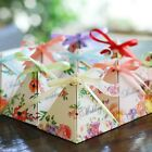 10-200X Spring Flower Paper Wedding Party Favour Sweet Boxes Bags Ribbons Tags