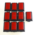 10× Mame Cabinet DIY Part Rectangular LED Illuminated Arcade Push Button Red