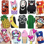 New 3D Cute Animals Cartoon Soft Silicone Case Cover Back Skin For Various Phone
