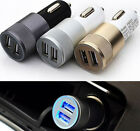 alloy shell 2-port USB Universal Car Charger for iphone 6/5/4 iPod/Ipad Samsung